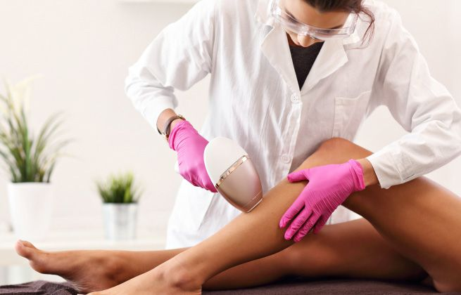 Laser Hair Removal Treatment on leg